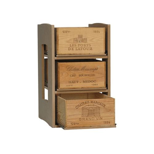 Cavicase Type B - Case rack for 3 cases on slide-out shelves.