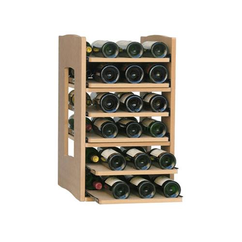 Cavicase Type C - Sliding bottle shelf for 36 bottles on 6 sliding shelves.