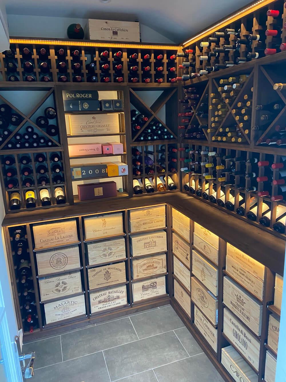 Dark Oak wine cellar