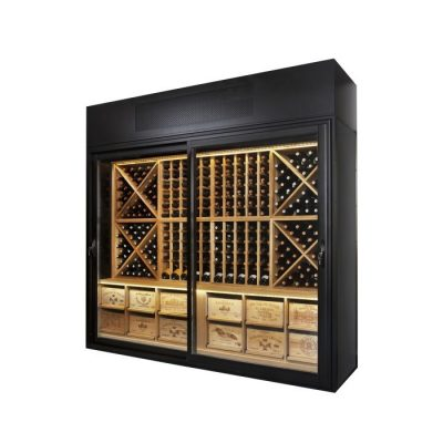 Wine Wall Solid Oak (Width of model shown is 2495mm)